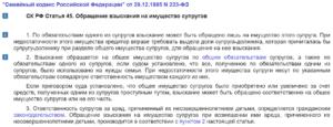 СК РФ Статья 45